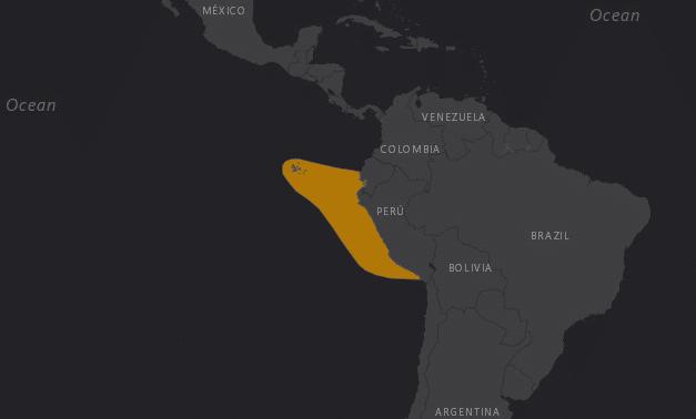 Mapa de localización del Albatros de las Galápagos