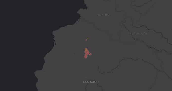 Mapa de localización del Zamarrito pechinegro