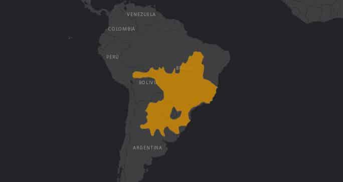 Mapa de territorial del Lobo de Crin