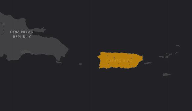 Mapa de localización de la Boa Puertorriqueña