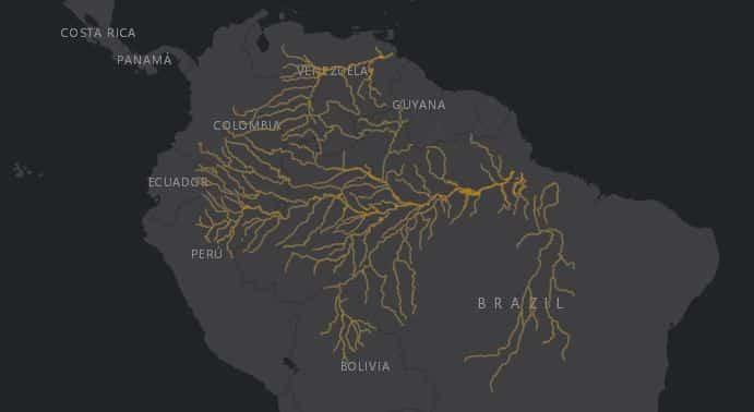 Mapa de localización del Delfín Rosado