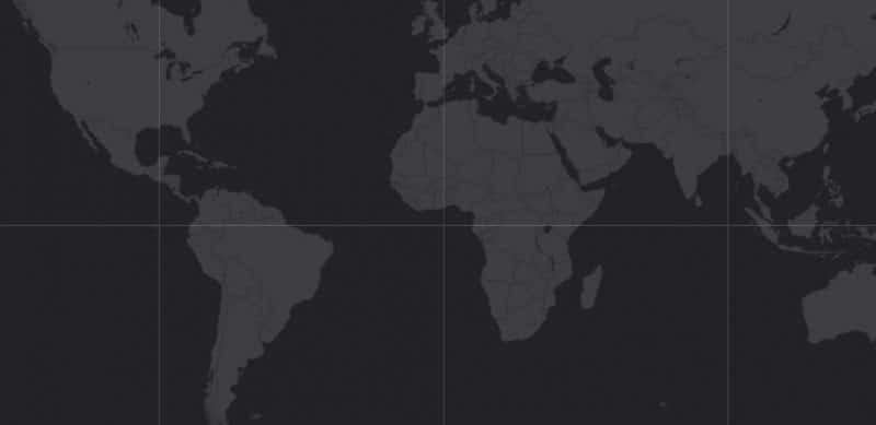 Mapa de rango geográfico para la Langosta de Mar