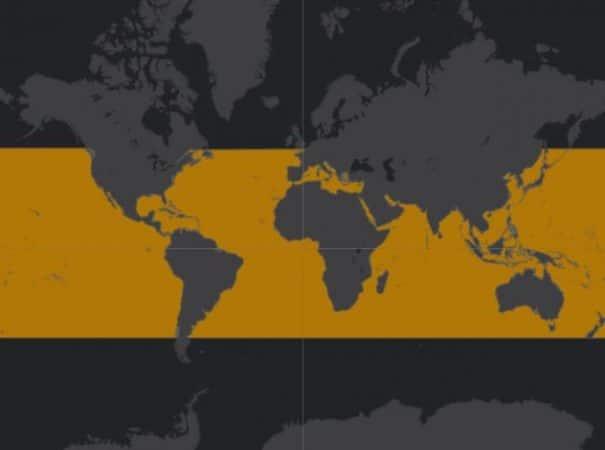 Mapa de rango geográfico para la Tortuga Carey