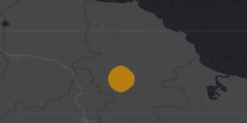 Mapa de rango geográfico para la Musaraña de los Tuxtlas