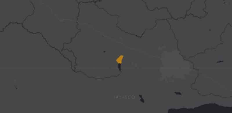 Mapa de rango geográfico para el Picote Tequila